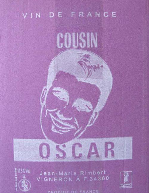 1cousin_oscar_languedoc_bib_label