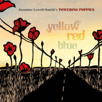 Jasmine Lovell-Smith's Towering Poppies: Yellow Red Blue