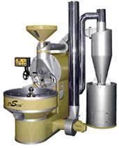 Τυπική σύγχρονη μηχανή για το καβούρδισμα του καφέ.